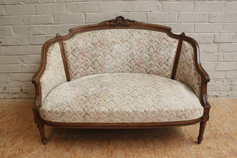 Louis Xvi Style Sofa Set In Walnut France 19th Century Seats Houtroos