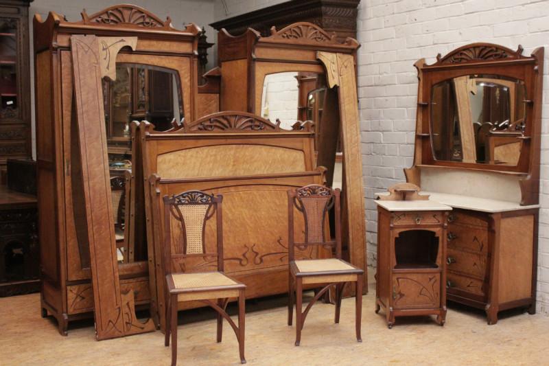 Brilliant 6Pc Art Nouveau Bedroom Bedrooms Houtroos Download Free Architecture Designs Osuribritishbridgeorg