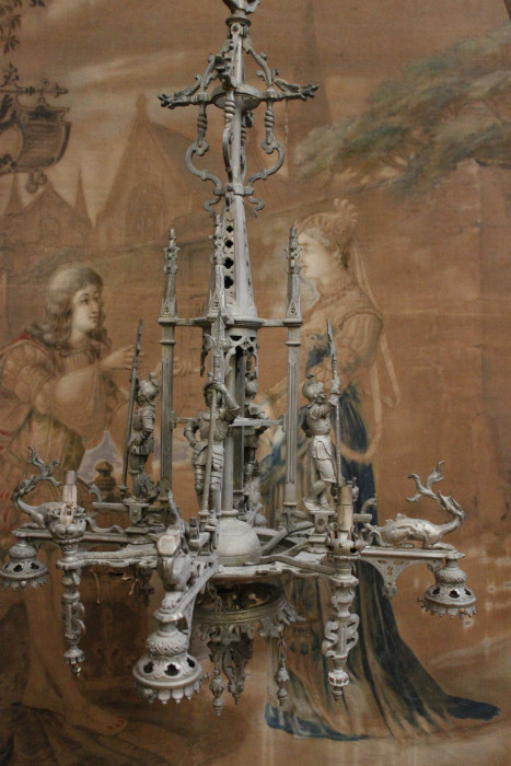 Bronze gothic chandelier with 4 knights chandeliers houtroos aloadofball Gallery