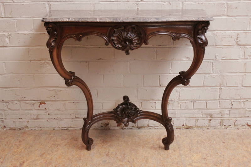 Tremendous Louis Xv Console In Walnut With Marble Top 501 Euro 750 Machost Co Dining Chair Design Ideas Machostcouk