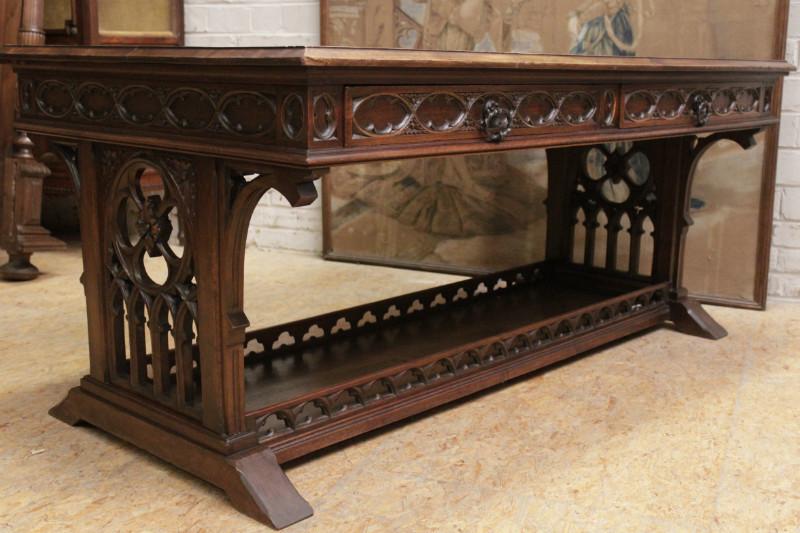Walnut Gothic Desk Table
