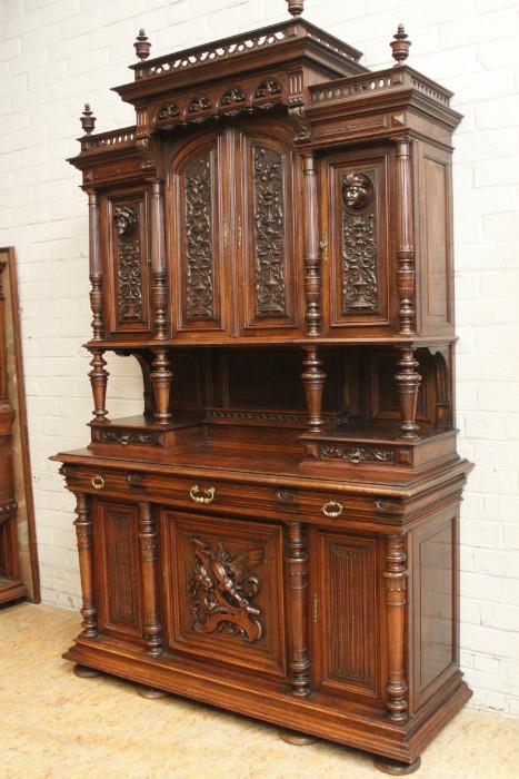walnut henri ii cabinet signed by bastet lyon cabinets houtroos. Black Bedroom Furniture Sets. Home Design Ideas